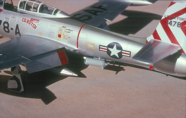F-84E left aft