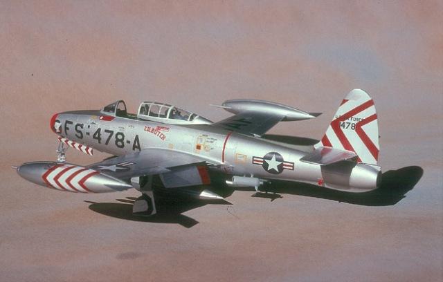 F-84E port rear