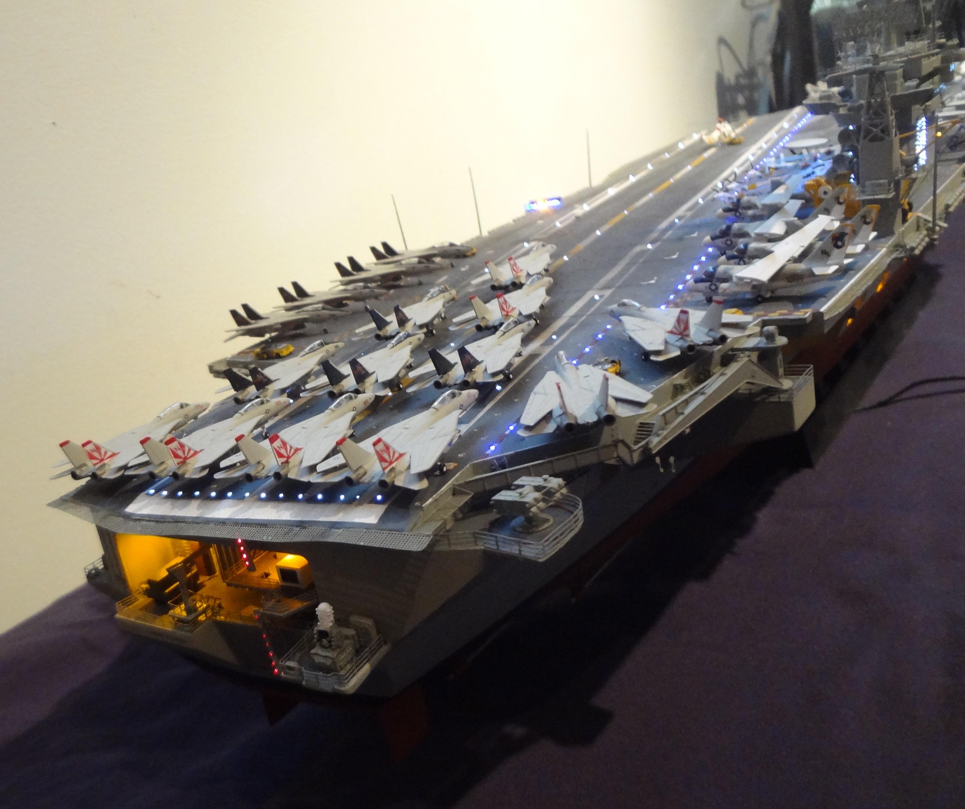 Superdetail Conversion – Trumpeter 1/350 Nimitz to Carl